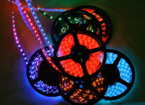 LED Strip Light Ribbon Single Color 5 Meters 300 PCS SMD 3528 Non-Waterproof DC 12V White/Warm White/Red/Green/Blue/Yellow pictures & photos