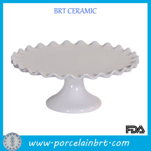 White Hot Sale Wedding Cake Stand with Frill Rim pictures & photos