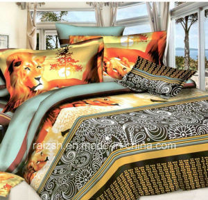 Hot Sales 100% Polyester 3D Animal Pigment Printed Bedding Set pictures & photos