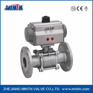Pneumatic Stainless Steel 3PC Flange Ball Valv