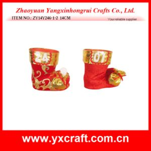 Christmas Decoration (ZY14Y26-1-2 24CM) Christmas Decorative Boot Shoe Factory pictures & photos