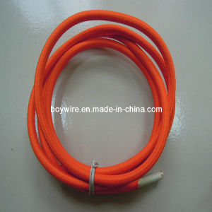 Orange Textile Braided Cable pictures & photos
