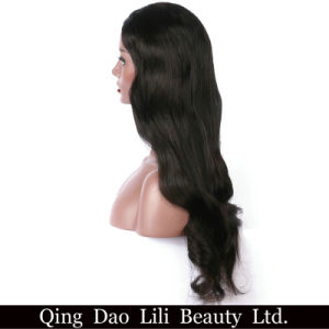 "Lili Beauty U Part Human Hair Wigs for Black Women Body Wave 100% Brazilian Non Nemy Hair Middle Part 1*3 ""Natural Color Freeshiping pictures & photos"
