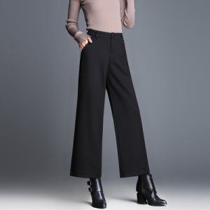 Elegant Casual High Waist Women Wide Leg Pants pictures & photos