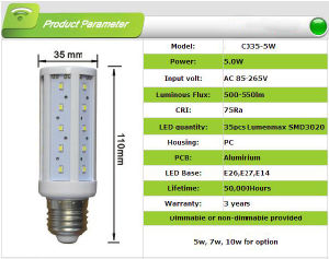 High Brightness SMD 9W LED Corn Lamp pictures & photos