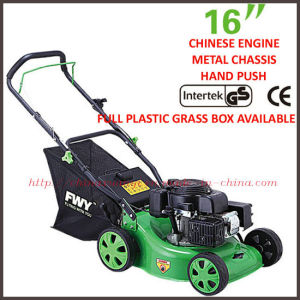 "EPA/GS/EMC/CE Approved 5.0HP 139cc 16"" Hand-Push Gasoline Lawn Mower (XYM158-1B)"