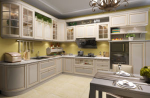 Solid Wood and Glass Insert Outdoor Kitchen (zq-017) pictures & photos