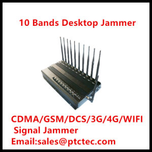 10bands CDMA/GSM/PCS/3G/4G RF Wireless Signal Jammer pictures & photos