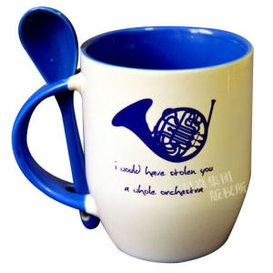 Sublimation Blue Color Photo Mug with Spoon pictures & photos