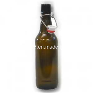 750ml Amber Glass Beer Bottle with Swing Top pictures & photos