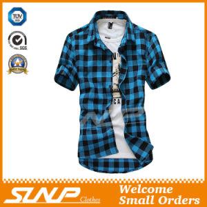 High Quality Men′s Plaid Short Sleeve T-Shirt Costume