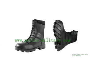 Military Tactical Combat Boots Black Leather Shoes CB303012 pictures & photos