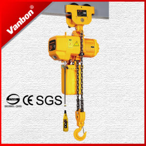 3ton Electric Chain Hoist with Manual Trolley pictures & photos