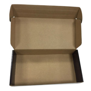 Black Glossy Corrugated Paper Box for Shipping pictures & photos