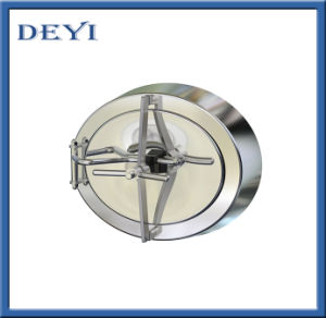 Sanitary Stainless Steel Pushing Elipse Manhole pictures & photos