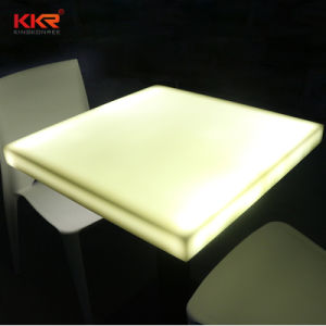 Corian Solid Surface Resin Dining Table for Restaurant pictures & photos