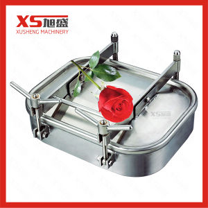 470mm*760mm Outward Stainless Steel Rectangular Manhole Cover with Pressure pictures & photos