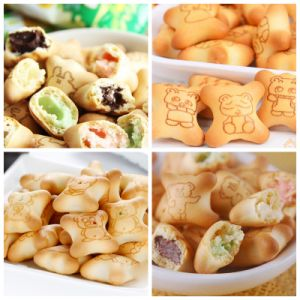 Stainless Steel Chocolate Filled Panda Type Cookies Production Line pictures & photos