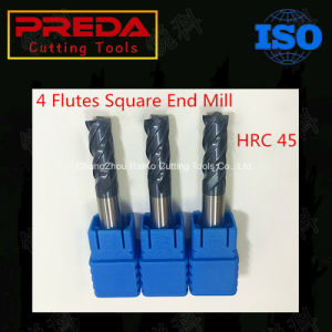 Solid Carbide 4 Flutes Square Tialn Coating End Mill pictures & photos