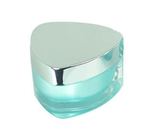 Triangle Shape Cosmetic Empty Acrylic Cream Jar pictures & photos