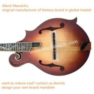 Afanti AAA Solid Spruce/Flamed Maple F Mandolin (AM-F95MK) pictures & photos