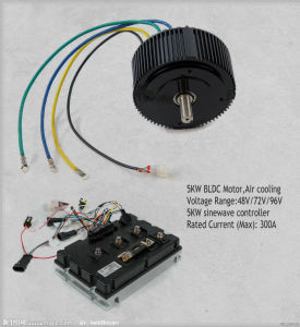 48V/72V 96V 5kw Electric Motorcycle Motor Kit with Air Cooliing pictures & photos