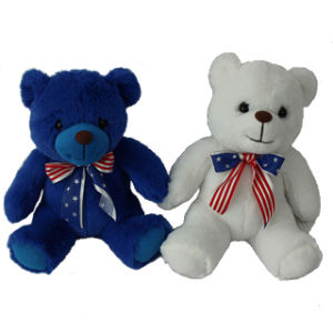 Factory Cheap Plush Toy Teddy Bear with Ribbon pictures & photos