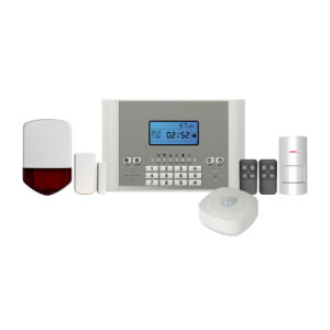 4 Wired and 99 Wireless Defense Zones Wireless GSM Home Burglar Alarm System (YL-007M2E) pictures & photos