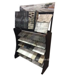 Wall Mounted Slatwall Double Metal Display Shelves/Metal Exhibition Stand pictures & photos