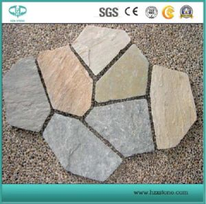 Crazy Shape/Culture Stone Slate/Natural Antique Black/Natural/Yellow/Grey Slate for Roof/Wall/Floor pictures & photos