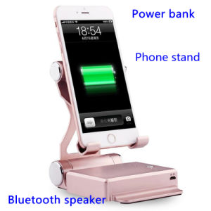 Folding Phone Stand 10400mAh Power Bank with Mobile Bluetooth Speaker pictures & photos