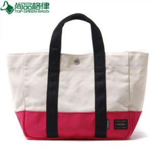 Customized Natural Reusable Promotion Cotton Tote Bag Tote Beach Bag (TP-TB138) pictures & photos