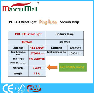180W PCI LED Street Light Replace for 400W Traditional Sodium Lamp pictures & photos