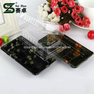 Floral Printed Top Grade Disposable Plastic Sushi Container (S01) pictures & photos