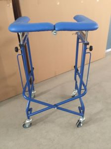 Medical Folding Walking Frame with Castors pictures & photos