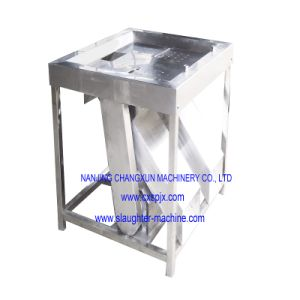 Square Type Small Bleeding Table Used for Poultry Slaughtering