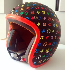 Open Face Safety Helmet for Motorcycle with DOT Certificates in Chrome pictures & photos