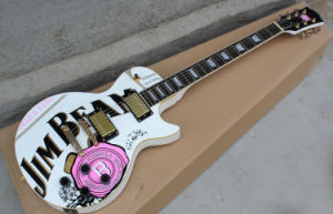Hanhai Music/Lp Standard Electric Guitar with Peony Pattern pictures & photos