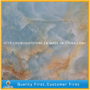 China Natural Polished Luxury Blue Onyx for Interior Decoration Floor/Wall pictures & photos