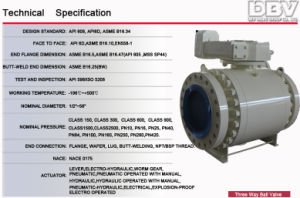 API Wcb Trunnion Mounted Ball Valve pictures & photos