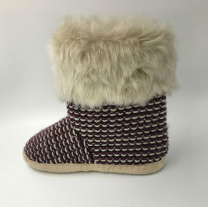 Lds Knit Winter Slipper