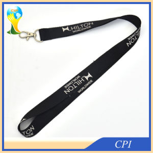 Cheap Single Black Lanyard with Lobster Claw pictures & photos
