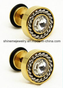 Fashion Jewelry Black Plating with White Glue Earring Ear Stud (ER2916) pictures & photos