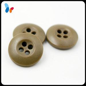 Dark Kaki Plastic Nylon 4 Holes Button for Overcoat pictures & photos