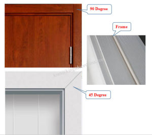 Modern PVC Wooden Main Door Design with Glass pictures & photos