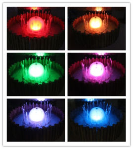 0.8 M Diameter Colorful Garden Water Fountain with LED Light pictures & photos