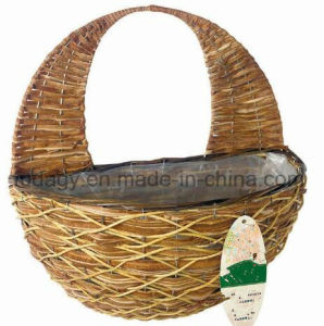Natural Handmade Rattan Wall Garden Basket pictures & photos