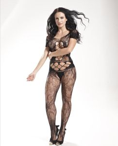 Short Sleeve Sexy Fishnet Bodystocking 8893 pictures & photos