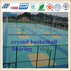 Professional Manufacturer Fixed Spu Basketball Court Sports Flooring with RoHS Certificates pictures & photos