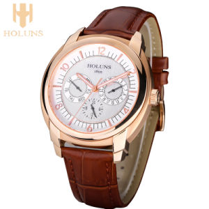 Big Dial Waterproof Automatic Digital Quartz Watch Men Stainless Steel Case Dress Sport Simple Style Wrist Watches pictures & photos
